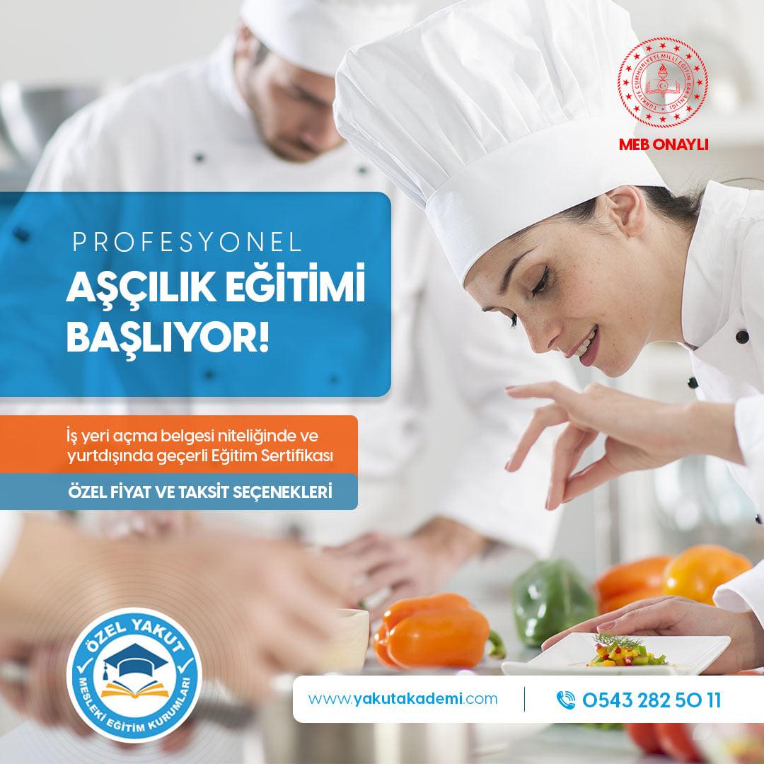 Profesyonel Aşçılık Eğitimlerimiz 11 Ekim ve 18 Ekim Tarihlerinde Başlıyor