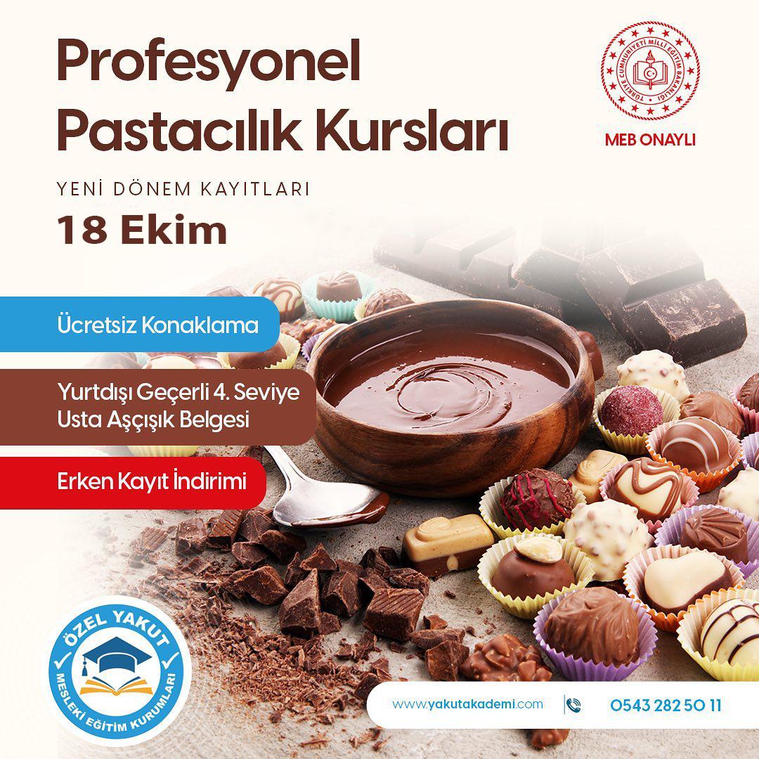 Profesyonel Pastacılık Eğitimlerimiz 18 Ekim de Başlıyor