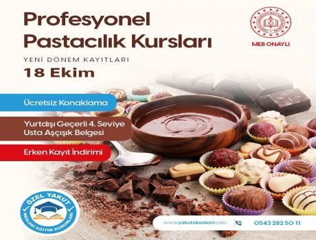 Our Professional Pastry Trainings Start on October 18th